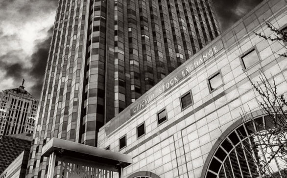 Chicago Stock Exchange Black And White Portrait